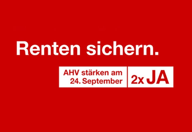 2x Ja zur Rentenreform am 24. September